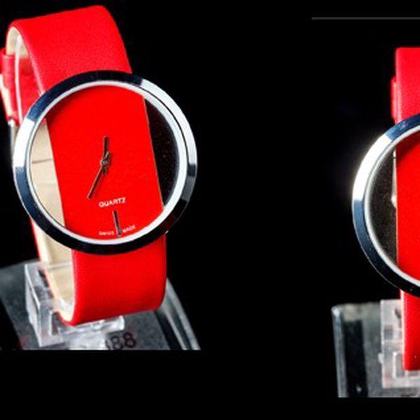 ELEGANTNÍ hodinky SINOBI QUARTZ 6256 se skleněným ciferníkem a koženým řemínkem!