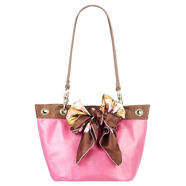 Dámská růžovo-hnědá kabelka se dvěma uchy Liedownithinkiloveyou