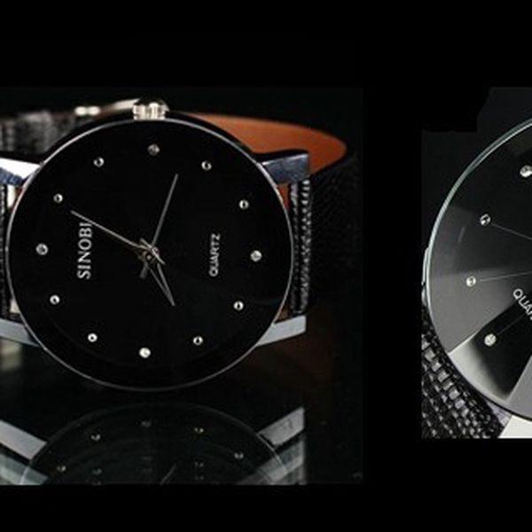 Luxusné pánske hodinky SINOBI LUXURY DIAMOND s unikátnym sklíčkom s krásnym koženým remienkom a antialergénne a odolné nerezovej ocele pre pohodlné nosenie!
