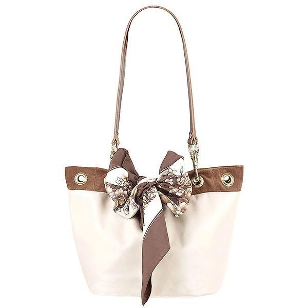 Dámská krémovo-hnědá kabelka se dvěma uchy Liedownithinkiloveyou