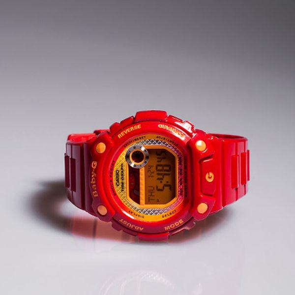 Dámské červené hodinky Baby-G Casio