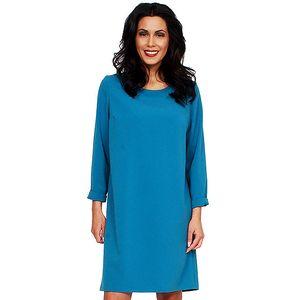Dámské tyrkysové šaty s holými zády Andrea G Design
