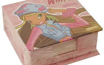 Poznámkový bloček Winx Club Poznámkový bloček se zrcátekem Flora