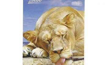 Poznámkový blok Bobo Bloky s motivy zvířat - kroužkový, prázdný, lvice