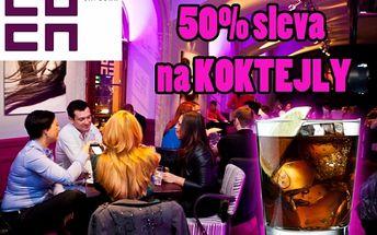 LOCA BAR - VEŠKERÉ KOKTEJLY s 50% slevou přímo v centru Prahy na Smetanově nábřeží, výborné koktejly v úžasné atmosféře!!!.
