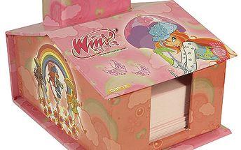 Bloček Winx Club Poznámkový bloček domeček se stojánkem Bloom deštník