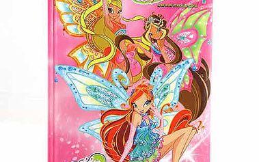 Poznámkový blok Winx Club Poznámkový blok poem 96 stránek Bloom&Stella&Flora s křídly