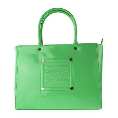 Dámská kabelka Versace zelená lesklá