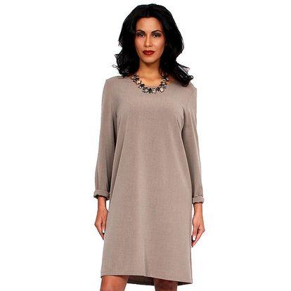 Dámské béžové šaty s holými zády Andrea G Design