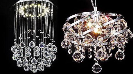 Luxusní LED lustry ve 2 variantách s poštovným v ceně
