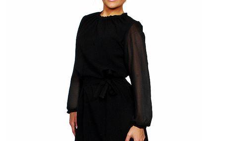 Dámské černé šaty s páskem Andrea G Design