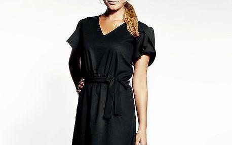 Dámské černé šaty s výšivkou Andrea G Design