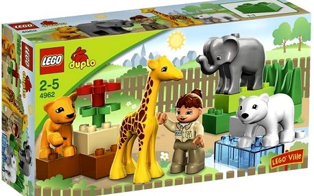 Stavebnice lego duplo 4962 baby zoo