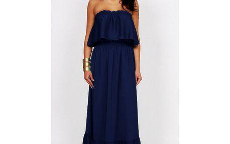 Dámské tmavě modré dlouhé šaty Andrea G Design