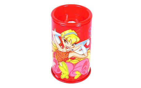 Ořezávátko Winx Club Ořezávátko plechové Stella květiny červená