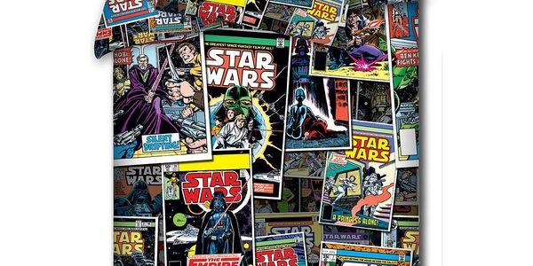TipTrade Dětské bavlněné povlečení Star Wars - Komiks, 140 x 200 cm, 70 x 80 cm