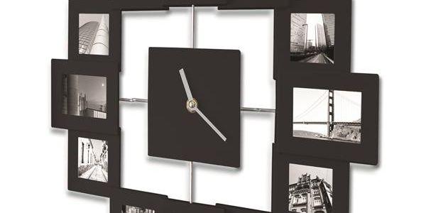 Moderní hodiny s 12 fotorámečky