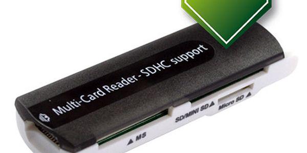 Univerzální čtečka paměťových karet do USB, čte SD/MMC/RS-MMC/MiniSD/TF/MS/M2 a poštovné ZDARMA s dodáním do 3 dnů! - 35405862
