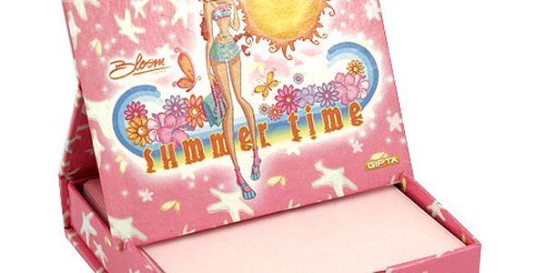 Poznámkový bloček Winx Club Poznámkový bloček s magnetkem Bloom summer time