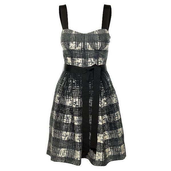 Dámské černobílé šaty se stuhou Guess