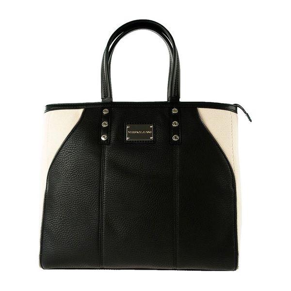 Dámská kabelka Versace černo-krémová
