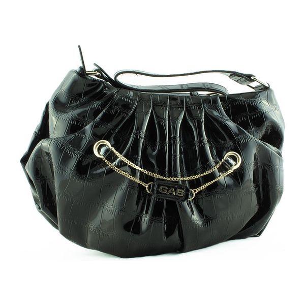 Dámská kabelka přes rameno GAS černá hadí