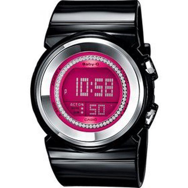 Dámské sportovní hodinky Casio BGD-102–1 s digitálním displejem a kulatým ciferníkem