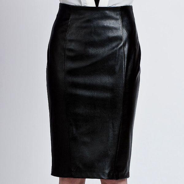 Dámská černá koženková sukně Lanti