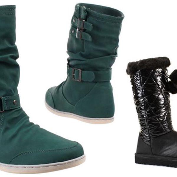 Stylové dámské boty se slevou 50 %