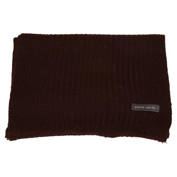 Tmavě hnědá pletená šála Pierre Cardin