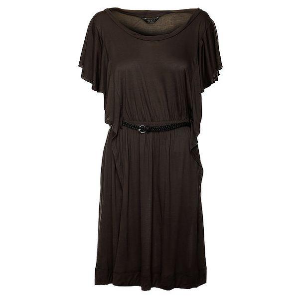 Dámské popelové šaty s volány Guess