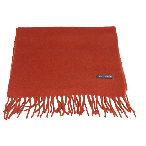Cihlově červená vlněná šála Pierre Cardin
