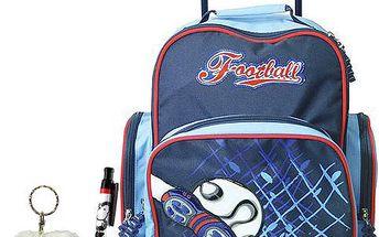 Školní batoh Cool trolley set kuličkové pero a plyšová klíčenka s motivem Sheepworld