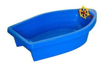 Pískoviště/bazének, 2v1 Boat ve tvaru lodě s plachtou
