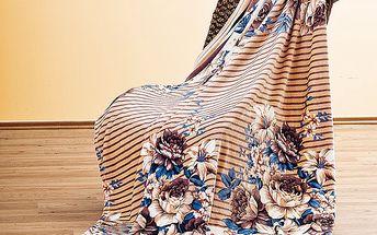 Deka Květiny, 140x200 cm, Profod