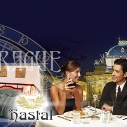 Romantika v Praze se slevou 50%! TŘI DNY pro dva v luxusním hotelu Haštal**** přímo na Starém Městě, včetně bohatých SNÍDANÍ, přípitku a speciálního dárku od majitele hotelu! Exkluzivní cena 2499 Kč a sleva v restauraci!