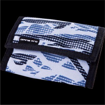 Peněženka Alpine Pro bílá s modrým potiskem