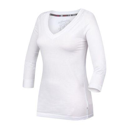 Dámské triko Alpine Pro bílé výstřih do V M