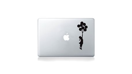 Samolepka na notebook Apple Balloon Girl by Banksy
