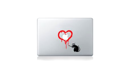Samolepka na notebook Rat Loves Apple by Banksy