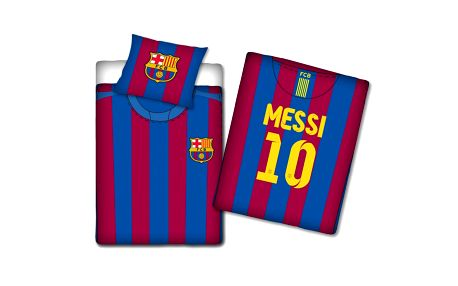 TIP TRADE Povlečení FC Barcelona Messi dres č. 10 Bavlna, 140 x 200 cm, 70 x 80 cm
