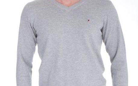 Módní šedý pánský svetr Tommy Hilfiger