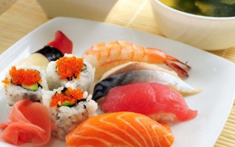 Veškeré SUSHI a SUSHI-SETY s 60% slevou! Sleva 50 % i na ostatní jídla dle vaší chuti přímo na Karlově nám.!!! Sleva platí i na jídla s sebou!!!