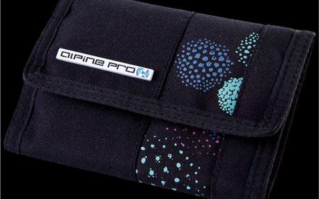 Peněženka Alpine Pro černé s modrým potiskem