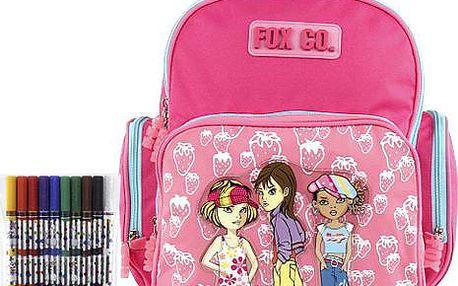 Školní batoh Cool trolley set fixy s motivem Diddl
