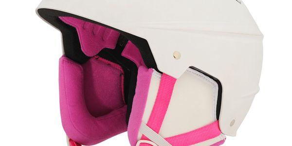 Přilba Alpine Pro bílo-růžová