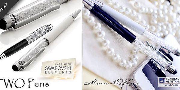 Luxusní psací pero a stylus v jednom s krystaly Swarovski Elements! Pero je naplněno kamínky Swarovski Elements a bude Vás reprezentovat při Vašich jednáních nebo poradách!Při koupi dvou kusů - poštovné ZDARMA