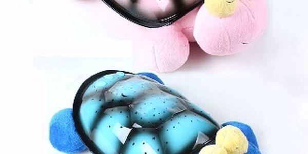 Magická plyšová želva hrající a svítící, okouzlí každé dítě. Super tip na dárek !