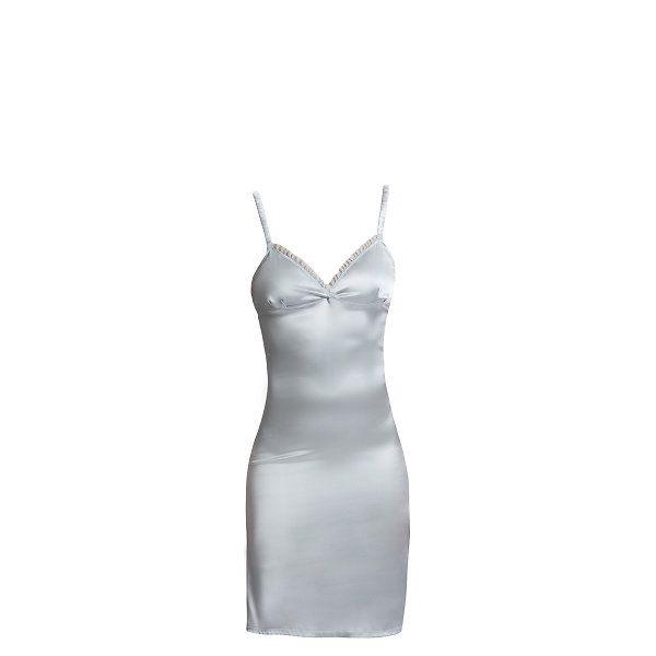 Dámská perlově šedá dlouhá košilka Hoff by Hoff