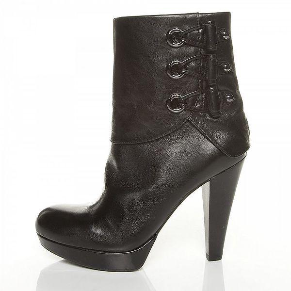 Dámské černé kotníčkové boty Guess